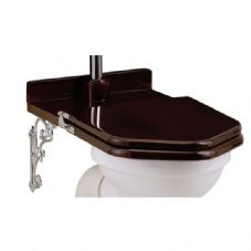 Wooden D Shaped Toilet Seat happy d solid wood replacement toilet